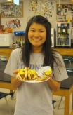 Paige is hungry! Chili Dog Day.