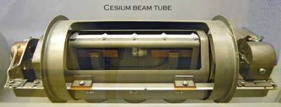 Fall 2014 Packet 1: The cesium clock that we base the measure of one second on. In 1967, the 13th General Conference on Weights and Measures first defined the International System (SI) unit of time, the second, in terms of atomic time rather than the motion of the Earth. Specifically, a second was defined as the duration of 9,192,631,770 cycles of microwave light absorbed or emitted by the hyperfine transition of cesium-133 atoms in their ground state undisturbed by external fields.