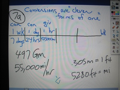 "Packet 1, Fall 2014: Working a ""simple"" Unit Analysis problem the Physics way (slide 5 of  8)"