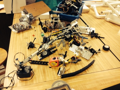 Packet 1, Fall 2014: This is the state of our competition bot from Los Angeles.  We have to get these in Shape by September 25th.  The Chinese are coming!