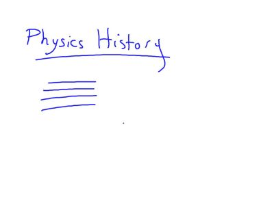 Packet 2, Fall 2014: Remind me to show you the Physics History for Packet 2 this week.