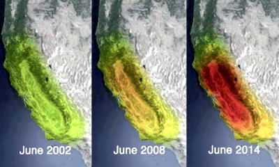 Some of the data from the GRACE satellites are used to show how California is losing all it's ground water. All this from the changing gravity, due to the lowering of the ground water tables.