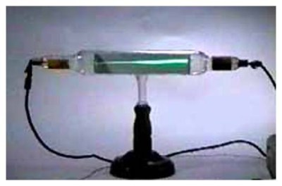 A Crooks Tube that shows an electron beam.
