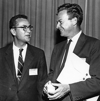 Gell-Mann and Richard Feynman argued constantly and sometimes bitterly about subatomic and subnuclear physics. They had offices just down the hall from each other at Cal Tech.