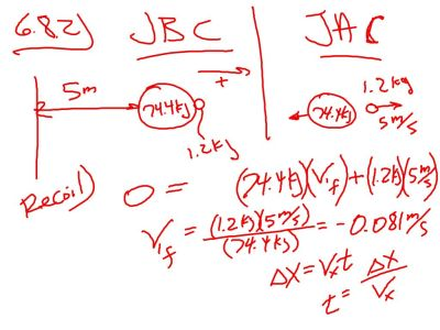 6.8.2  Now we need to always draw two situations:  JBC (Just Before Collision) and JAC (Just After Collision)