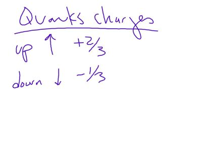 Quarks have fractional charges.