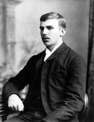 Enter a young New Zealander -- Ernest Rutherford.