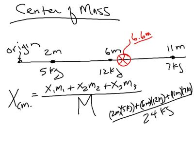 Center of Mass formula.