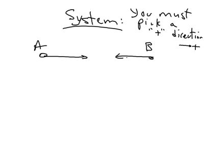 If it is a system of particles, you pick a direction of motion.